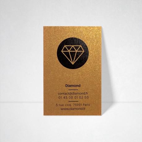 Cartes de visite Metallics