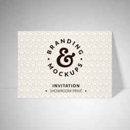 Carte d'invitation Tradition extra blanc
