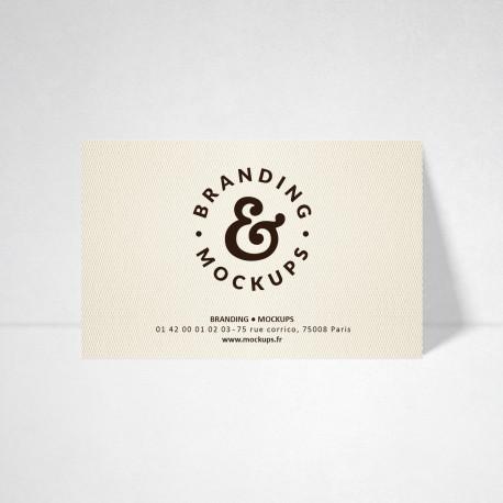 Carte publicitaire Design ivoire