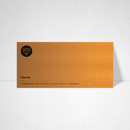 Cartes de correspondance Metallics