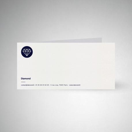 Carte de correspondance double Metallics cryogen blanc