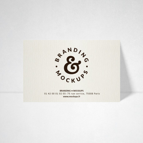 Carte publicitaire Design blanc naturel