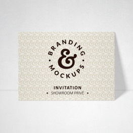 Carte d'invitation Design blanc naturel