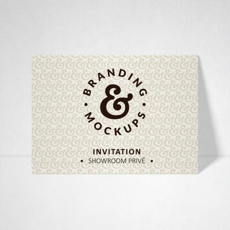Carte d'invitation Design blanc naturel