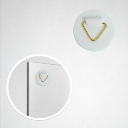Accroche adhésive PVC 4 cm
