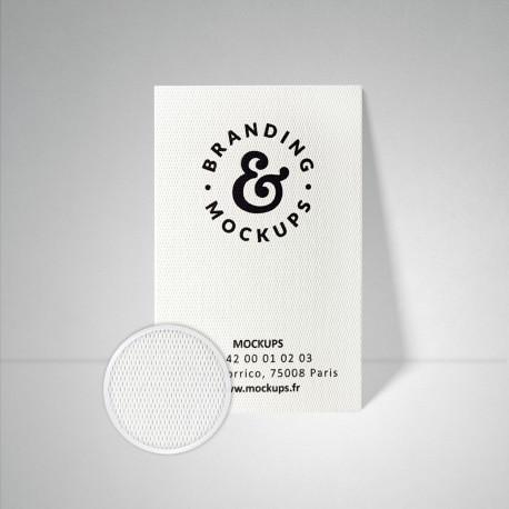 Carte de visite Design extra blanc