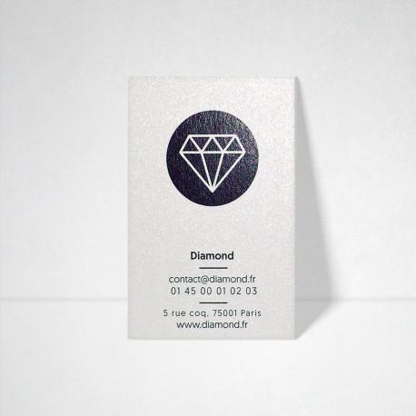 Carte de visite Metallics perle akoya