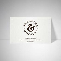Carte publicitaire Design extra blanc