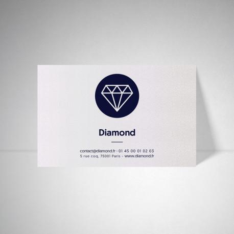 Carte publicitaire Metallics perle akoya