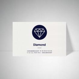 Carte publicitaire Metallics cryogen blanc