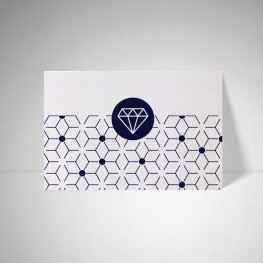 Carte postale Metallics perle akoya
