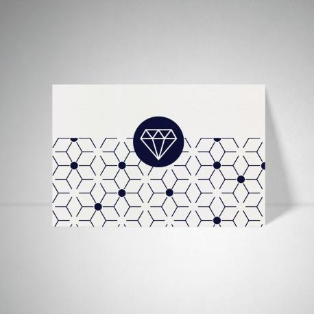 Carte postale Metallics cryogen blanc