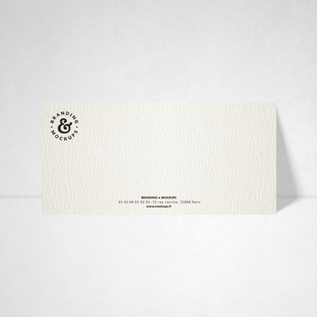 Carte de correspondance Tradition blanc naturel