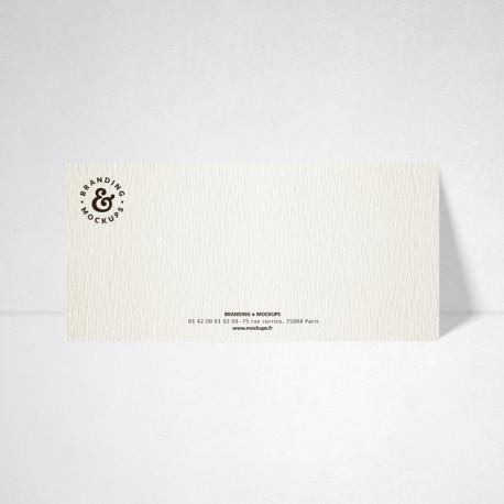 Carte de correspondance Tradition blanc naturel