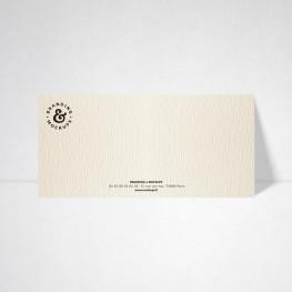 Carte de correspondance Tradition ivoire