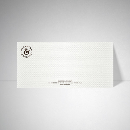 Carte de correspondance Design extra blanc