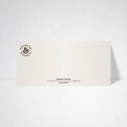 Carte de correspondance Design blanc naturel