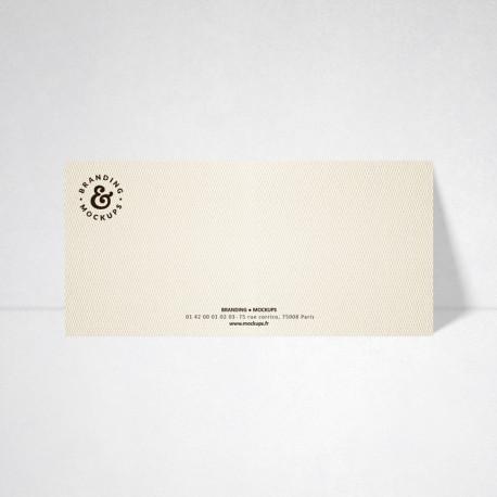 Carte de correspondance Design ivoire