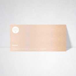Carte de correspondance Metallics nude