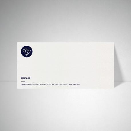 Carte de correspondance Metallics cryogen blanc