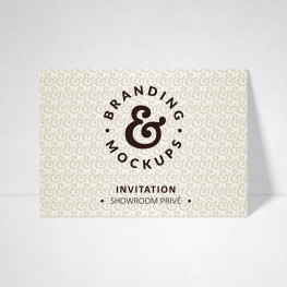 Carte d'invitation Tradition blanc naturel