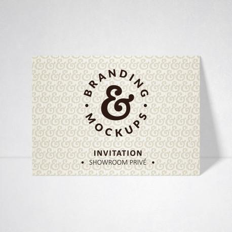 Carte d'invitation Tradition blanc naturel