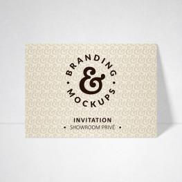 Carte d'invitation Tradition ivoire