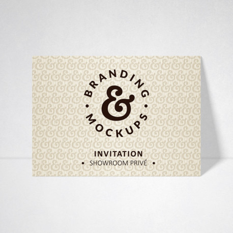 Carte d'invitation Tradition ivoire