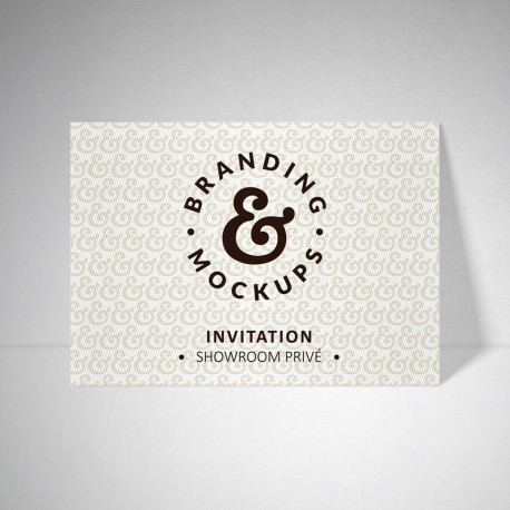 Carte d'invitation Design extra blanc