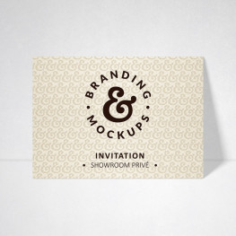 Carte d'invitation Design ivoire