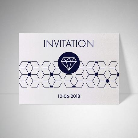 Carte d'invitation Metallics perle akoya