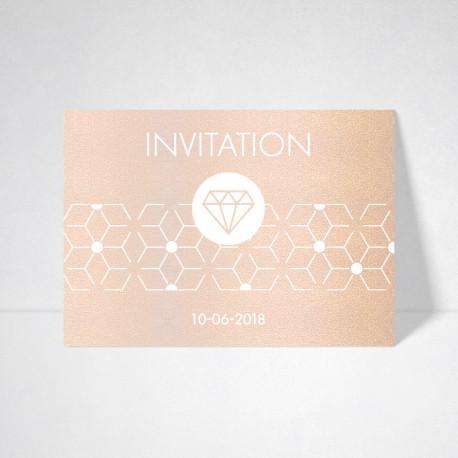 Carte d'invitation Metallics nude