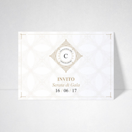 Carte d'invitation Conqueror wove