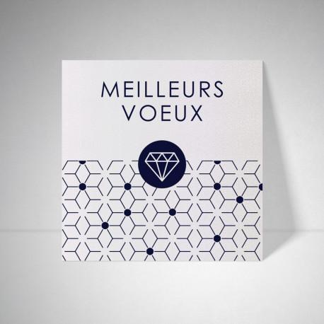 Carte de voeux Metallics perle akoya