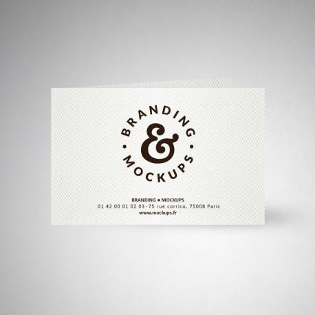 Carte publicitaire double design extra blanc