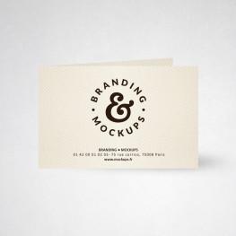 Carte publicitaire double design ivoire