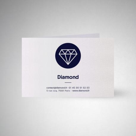 Carte publicitaire double Metallics perle akoya