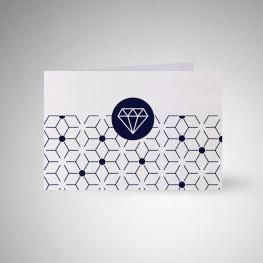 Carte postale double Metallics perle akoya