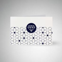 Carte postale double Metallics cryogen blanc