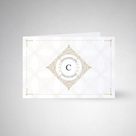Carte postale double Conqueror wove