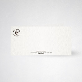 Cartes de correspondance doubles tradition extra blanc