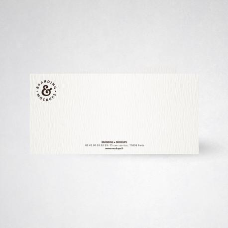 Carte de correspondance double tradition extra blanc