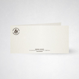 Carte de correspondance double tradition blanc naturel