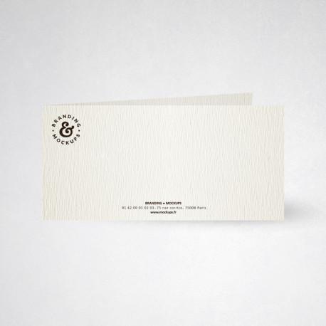 Carte de correspondance double tradition blanc naturel