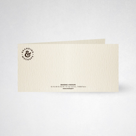 Carte de correspondance double tradition ivoire