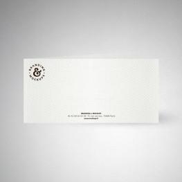 Carte de correspondance double design extra blanc
