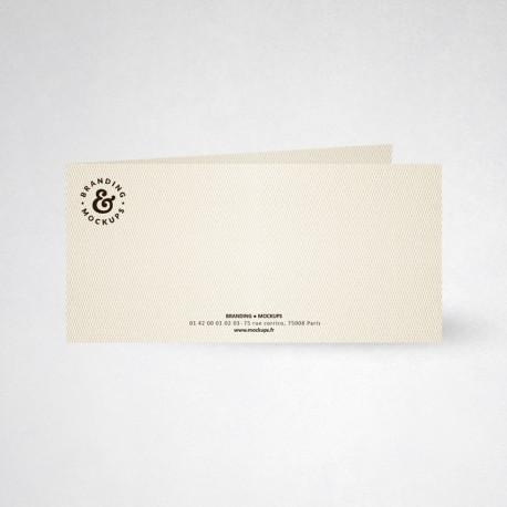 Carte de correspondance double design blanc naturel
