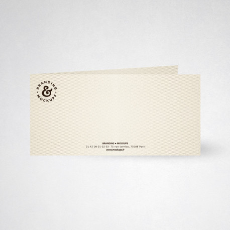 Carte de correspondance double design blanc naturel