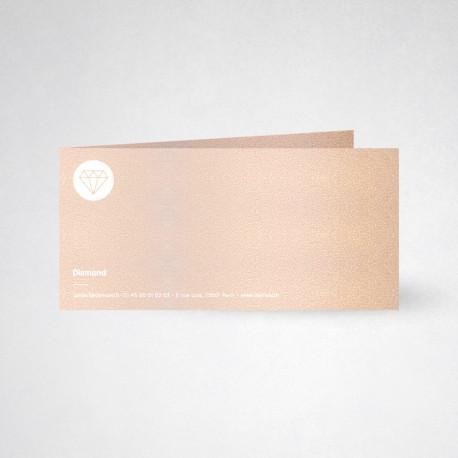 Carte de correspondance double Metallics nude