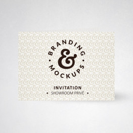 Carte d'invitation double tradition extra blanc